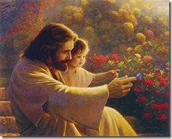 Jesus e menina